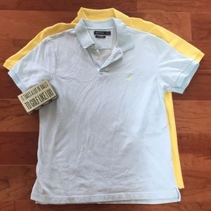 Two Nautica Polo Shirts